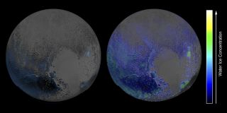 New Horizons Map of Pluto Water Ice