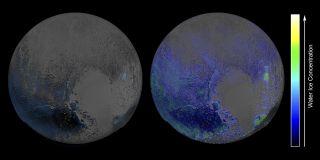 New Horizons Map of Pluto Water Ice