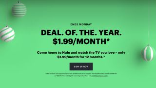 Hulu Black Friday deal offers $1.99/month subscription for a whole year