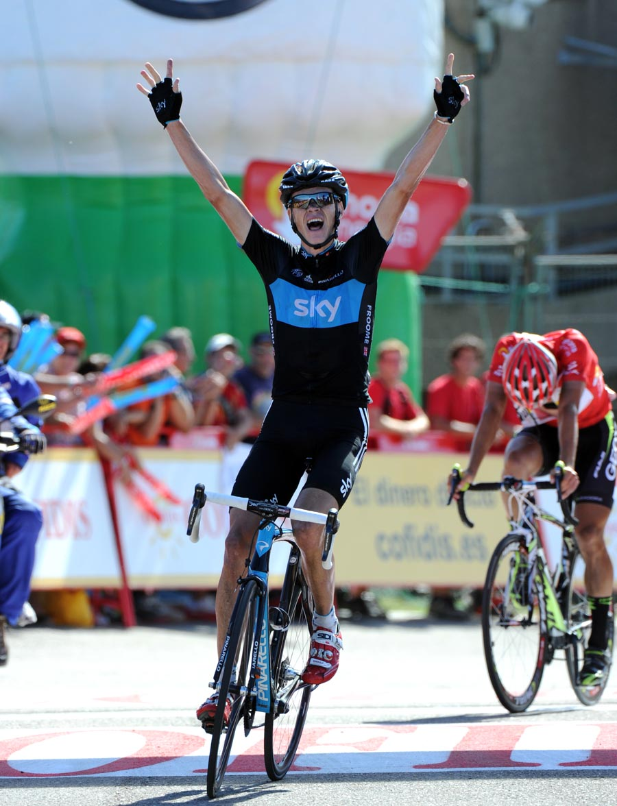 Chris Froome wins, Vuelta a Espana 2011, stage 17
