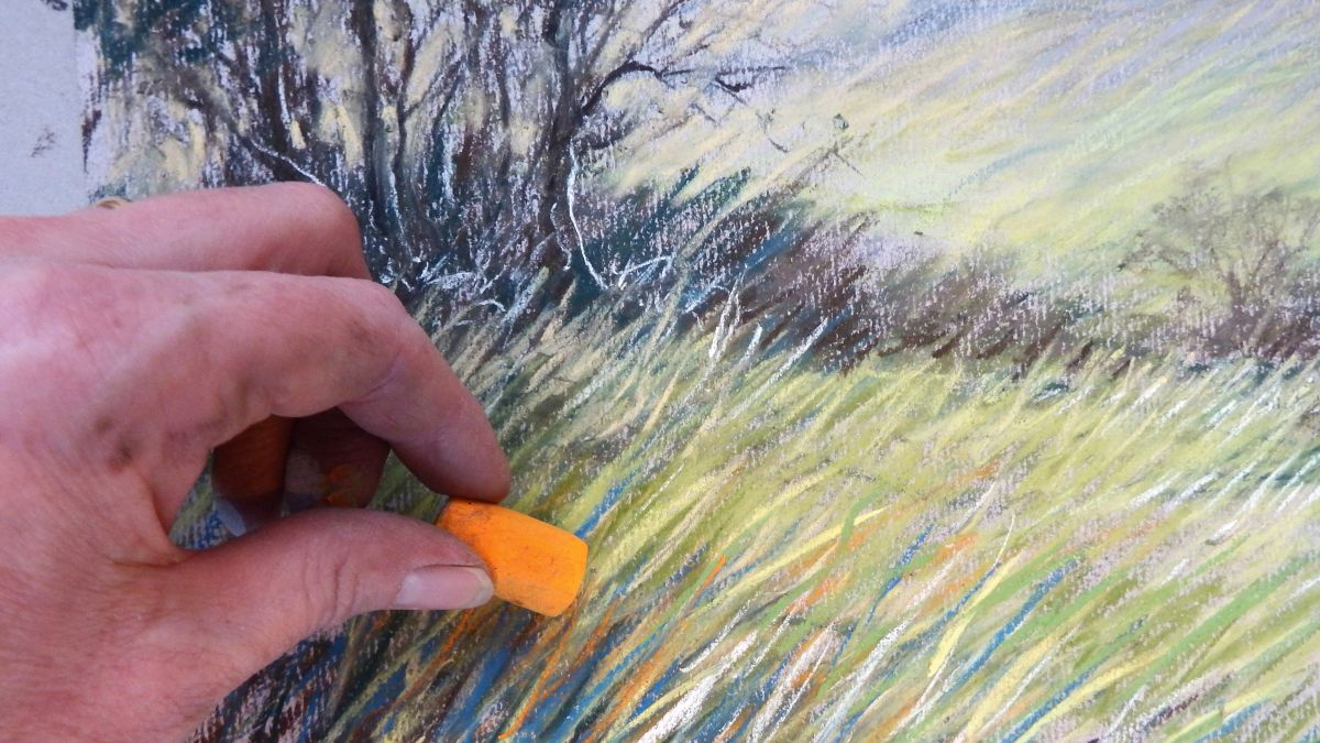 How to draw a landscape with pastels