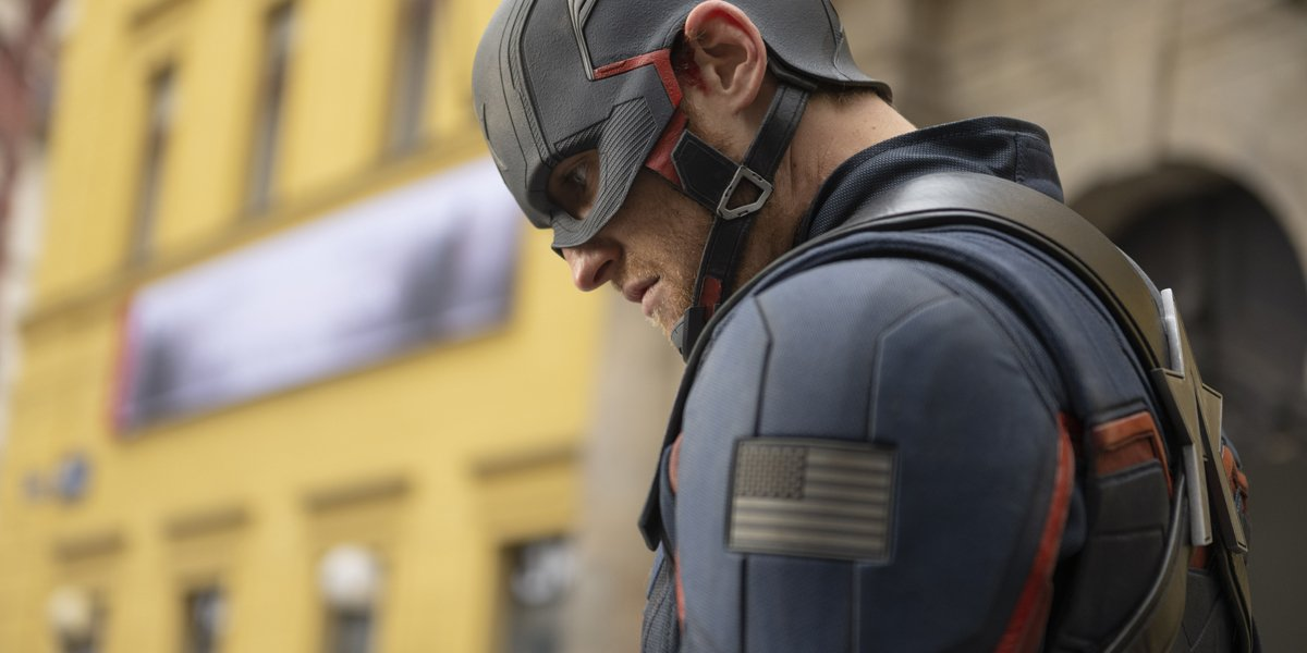 Wyatt Rogers as John Walker Captain America in The Falcon And The Winter Soldier