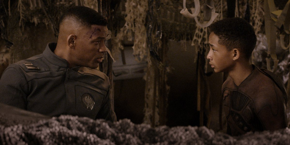 Will Smith and Jaden Smith in After Earth