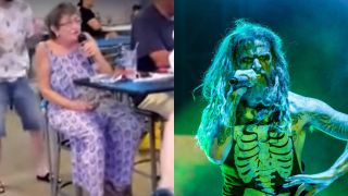 Metal grandma and Rob Zombie