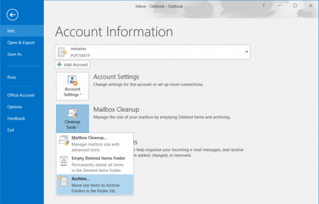 How to Archive Mail in Outlook 2016 | Laptop Mag