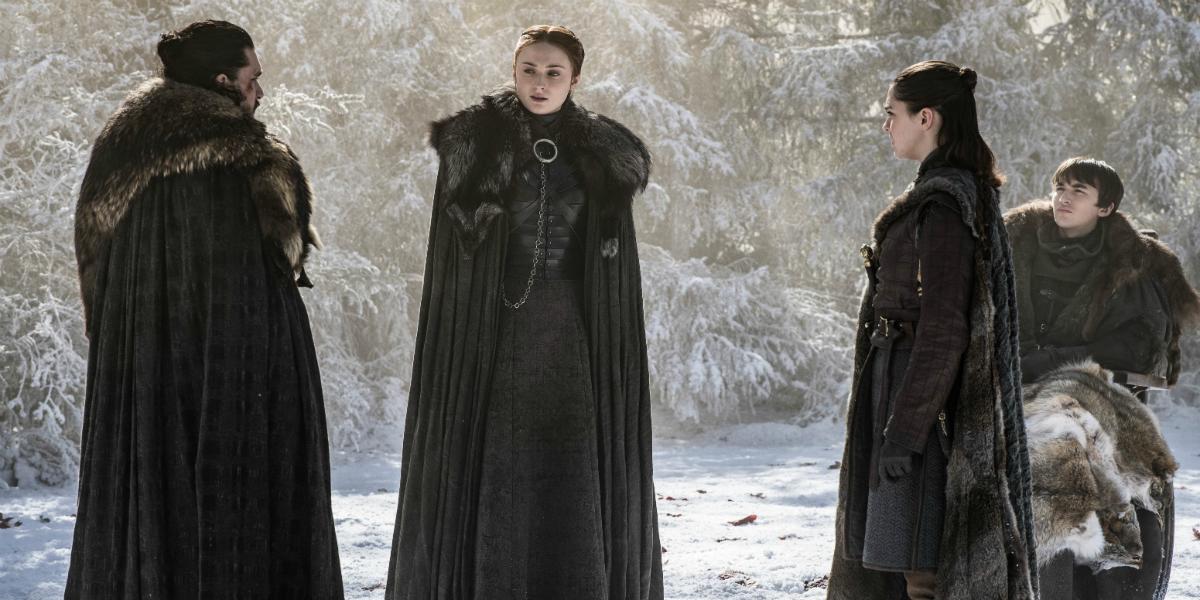 Game of Thrones Kit Harington Jon Snow Sophie Turner Sansa Stark Maisie Williams Arya Stark Isaac He