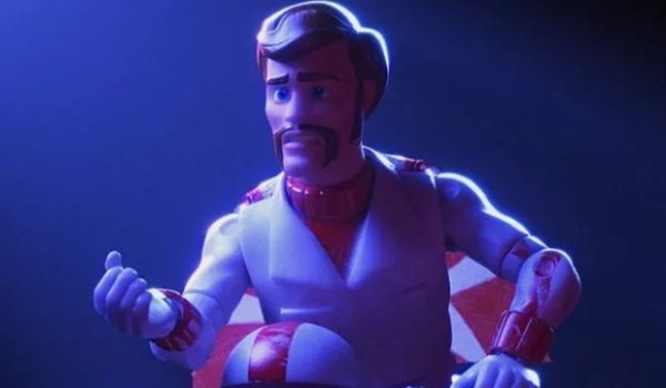 Toy Story 4 Duke Caboom lays down his tragic story in somber lighting