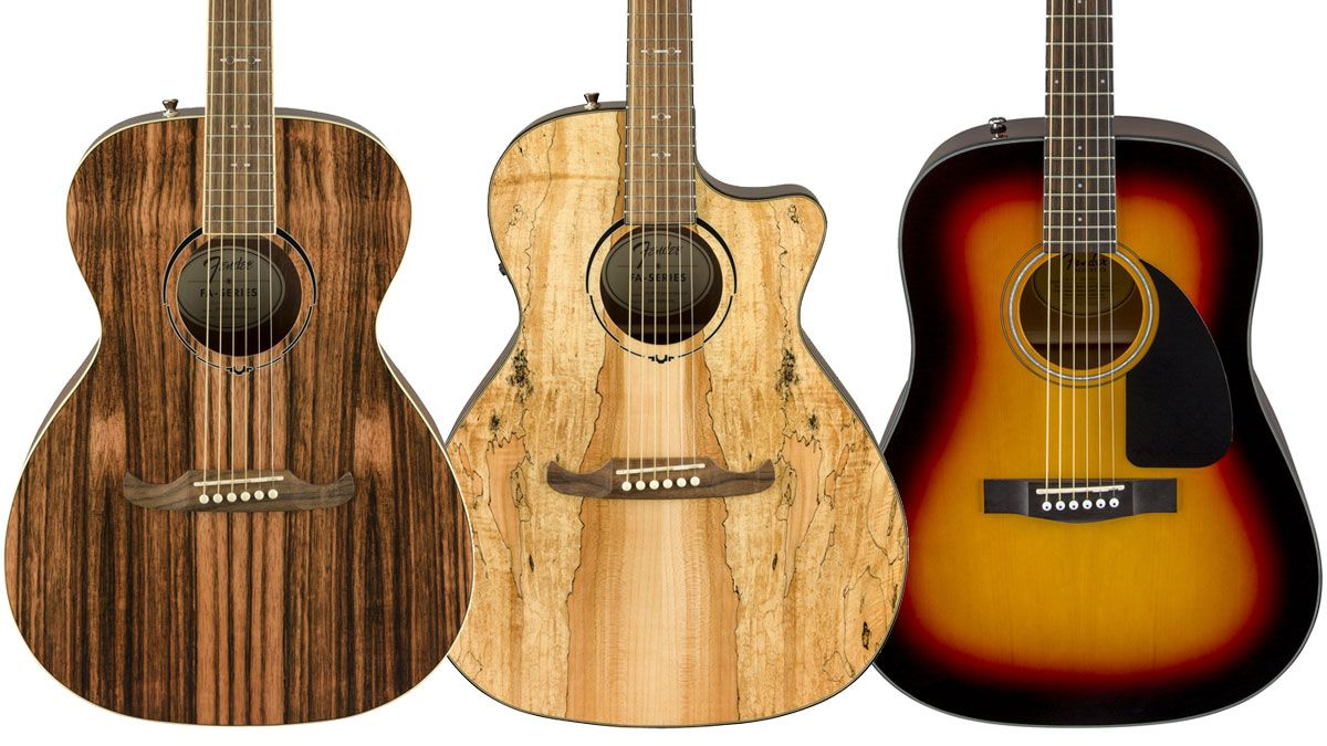 Fender debuts trio of new acoustic guitars, including 2 exotic wood models