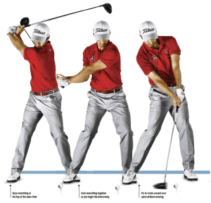 Cover the ball golf swing