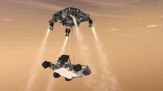 Curiosity's Sky Crane Concept Art