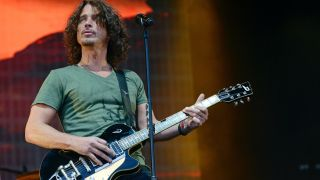 Chris Cornell of Soundgarden performs on stage at the Soundwave Festival at Melbourne showgrounds on Sunday the 22nd of February 2015 in Melbourne, Australia