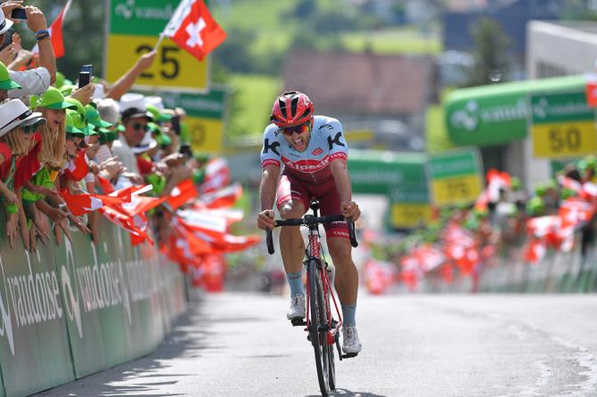 Nathan Haas finishes second on stage 6 at Tour de Suisse
