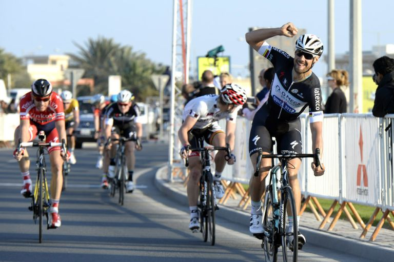Tom Boonen wins stage two of the 2014 Tour of Qatar