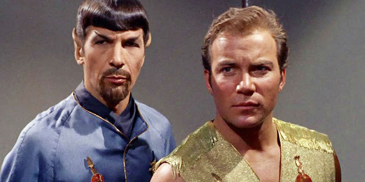 Star Trek's Mirror, Mirror episode with alternate Spock and Captain Kirk