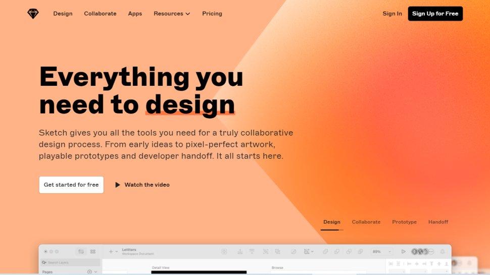Website screenshot for Sketch