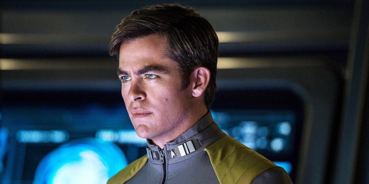 Chris Pine as James T. Kirk in Star Trek