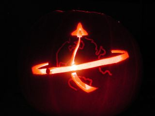 STS-114 Halloween pumpkin carved by Liz Warren.