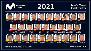 The men's Movistar 2021 roster