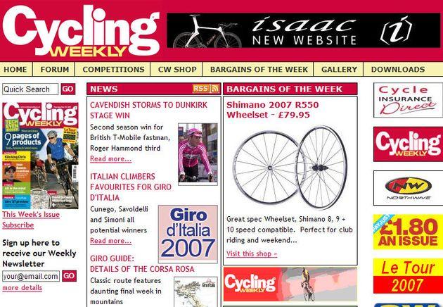 CW website homepage
