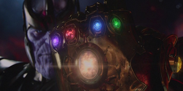 Thanos wearing Infinity Gauntlet