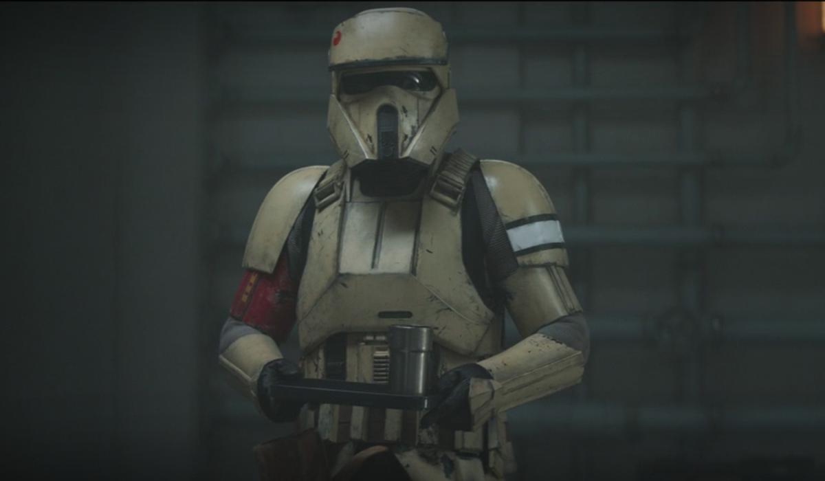 the mandalorian trooper holding coffee