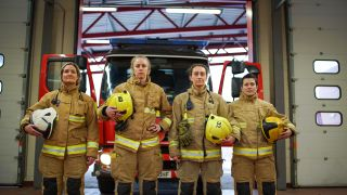 Leeds firefighters Sophie, Kelly, Nicola and Sarah.