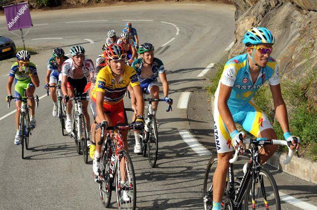 Alberto Contador and Janez Brajkovic, Criterium du Dauphine 2010, stage 6