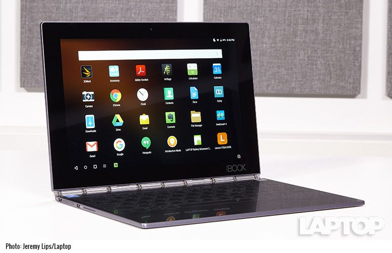 Lenovo Yoga Book Android Review Innovative But For Whom Laptop Mag
