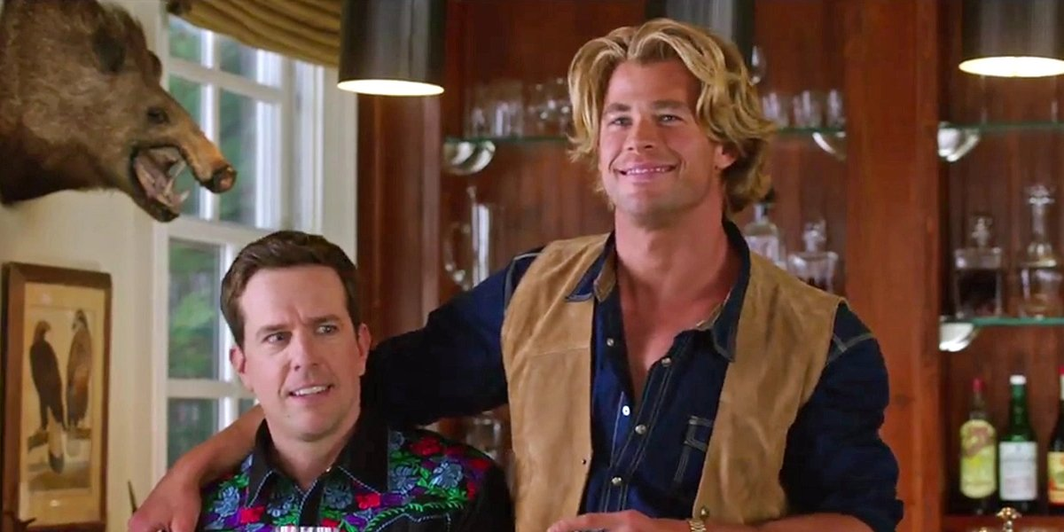 Ed Helms and Chris Hemsworth in the 2015 Vacation reboot