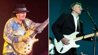 Carlos Santana (left) and Steve Winwood