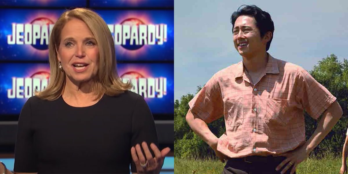 Steven Yeun and Katie Couric Oscars History