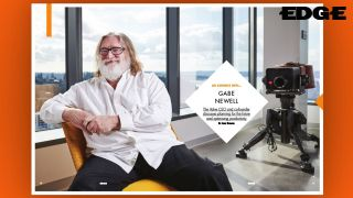 An image of Gabe Newell from Edge Magazine Issue 344