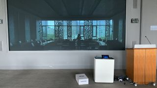 In spaces that already featured large displays or projection, the team rolled out Salamander Designs enclosures with Crestron Mercury units and Huddly cameras to make them Zoom capable.