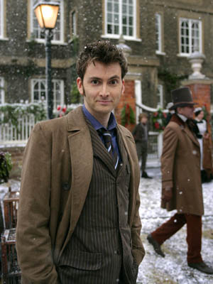 David Tennant looks in relaxed mood on set in Cardiff