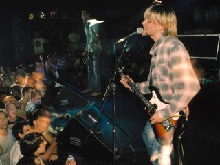 Kurt Cobain performs with Nirvana in Seattle 1990