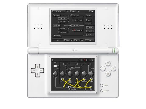 The software makes full use of the DS-10's two screens.