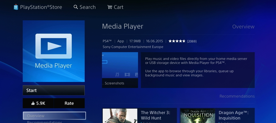 You can now watch your own videos using the PS4 Media Player