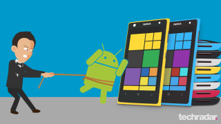 No, bad Nokia! Put down that Android at once!