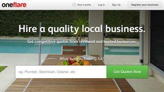 OneFlare homepage