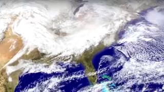 A look from above at this weekend's upcoming winter storm