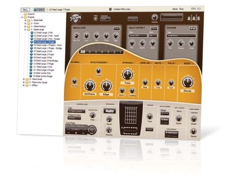 Strum fun: GS-1 enables you to create realistic guitar parts on your MIDI keyboard.
