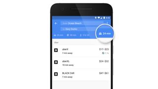 Google Maps Uber fares