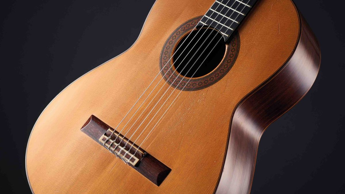 guitar setup how to restring a nylon string classical guitar musicradar. Black Bedroom Furniture Sets. Home Design Ideas