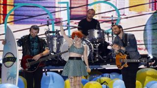 Paramore performing with Miles McPherson