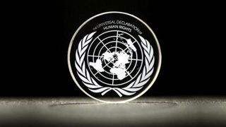 This disc stores the entire Universal Declaration of Human Rights