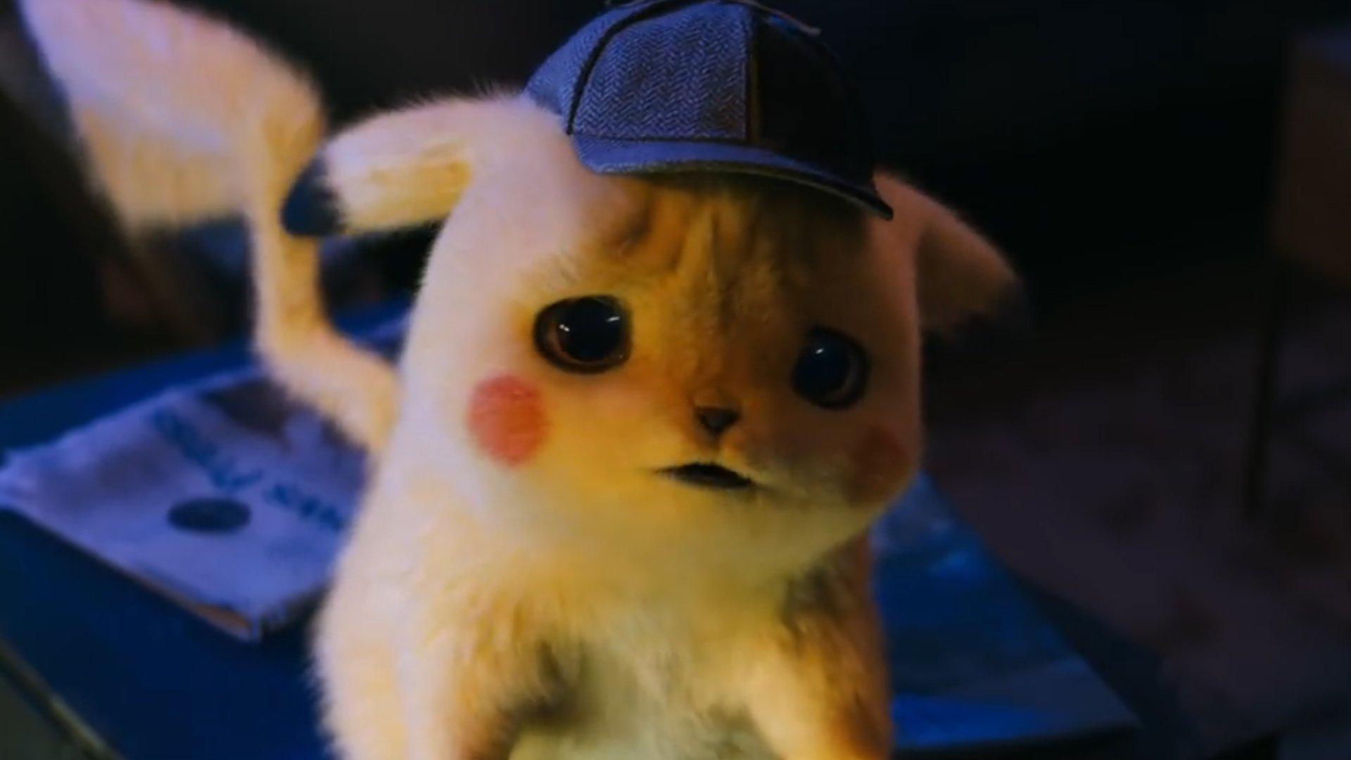 Ryan Reynolds as Detective Pikachu looking sad