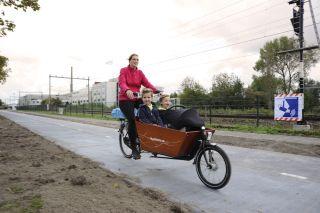 The bike path was opened on Nov. 12.