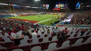 Tampa's Raymond James Stadium in February 2021.