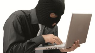 Robber with laptop
