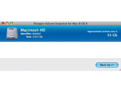 Paragon Volume Snapshot for OS X